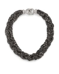 ABS By Allen Schwartz | Metallic Smoke And Mirrors Braided Chain Necklace | Lyst