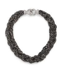 ABS By Allen Schwartz | Metallic Smoke And Mirrors Braided Chain Necklace | Lyst