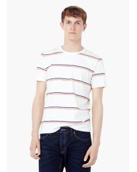 Mango | Pink Striped Cotton T-shirt for Men | Lyst