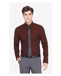 Express - Red Slim Iridescent 1mx Shirt for Men - Lyst