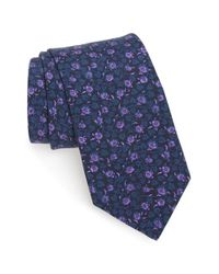 Ted Baker - Blue 'kensington Floral' Silk Tie for Men - Lyst