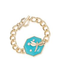 Carolee | Blue Dragonfly Toggle Bracelet | Lyst