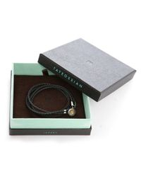 Tateossian | Dark Brown Disc Round Bracelet Size M for Men | Lyst