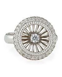Roberto Coin - Metallic Art Nouveau Pav Diamond Ring Size 7 - Lyst