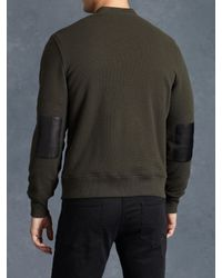 John Varvatos | Green Fleece Lined Zip Front Jacket for Men | Lyst