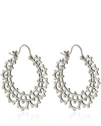 Laurent Gandini - Metallic Silver Mini Tear Hoop Earrings - Lyst
