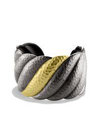 David Yurman - Metallic Sculpted Cable Cuff - Lyst