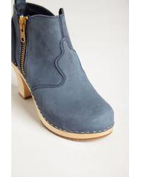 Swedish Hasbeens | Blue Shipwright Clog Booties | Lyst