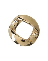 Marc By Marc Jacobs - Metallic Link To Katie Chunky Ring - Lyst