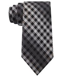 DKNY | Black Ombre Grid Slim Tie for Men | Lyst
