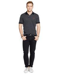 Polo Ralph Lauren - Black Striped Performance Mesh Polo Shirt for Men - Lyst