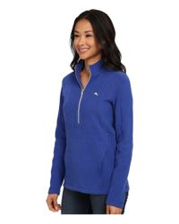 Tommy Bahama | Blue Aruba Angle Pocket 1/2 Zip | Lyst