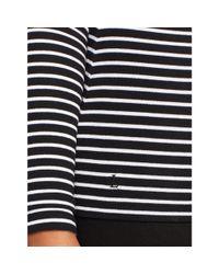 Ralph Lauren | White Striped Ballet-neck Top | Lyst