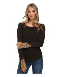 Free People - Black Newbie Thermal Bali Babe Cuff - Lyst