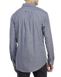 Izod - Blue Stripe Patch Pocket Sport Shirt for Men - Lyst