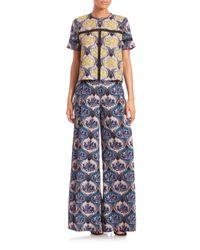 Yigal Azrouël - Multicolor Printed Boxy Top - Lyst