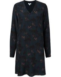 KENZO - Blue 'bamboo Tiger' Dress - Lyst