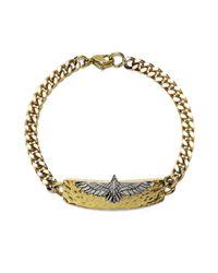 Pamela Love | White Aguila Id Bracelet In Brass | Lyst