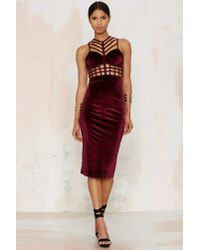 Nasty Gal | Multicolor Caged In Velvet Cutout Dress | Lyst