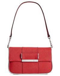 Calvin Klein | Red Saffiano Demi Bag | Lyst