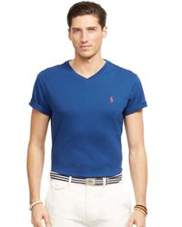 Polo Ralph Lauren | Blue Jersey V-Neck for Men | Lyst