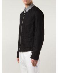Ann Demeulemeester   Black Zipped Jacket for Men   Lyst