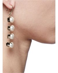 Valentino | Metallic Studs And Faux Pearls Drop Earrings | Lyst