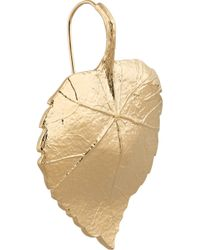 Aurelie Bidermann | Metallic Central Park Gold-Plated Leaf Earrings | Lyst