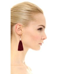 Eddie Borgo - Small Silk Tassel Earrings - Red - Lyst