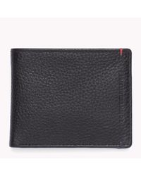 Tommy Hilfiger | Black Pebbled Leather Wallet for Men | Lyst