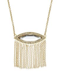 Rebecca Minkoff - Metallic Gold-Tone Fringe Pendant Necklace - Lyst