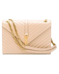 Saint Laurent - Pink Large 'monogram' Shoulder Bag - Lyst