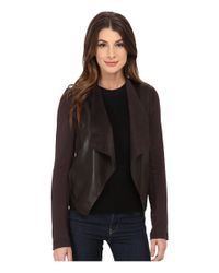Kut From The Kloth | Brown Faux Leather Drape Jacket | Lyst