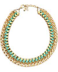 John & Pearl | White Navojoa Chunky Necklace | Lyst