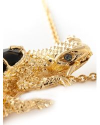 Alexander McQueen - Metallic Lizard Pendant Necklace - Lyst