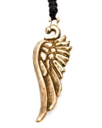 Roman Paul | Black Bronze Wing Necklace for Men | Lyst