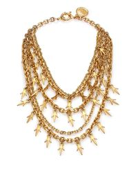 Giles & Brother | Metallic Multi-chain Thorn Necklace | Lyst