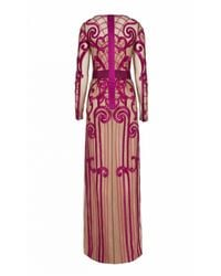 Temperley London - Purple Long Catroux Dress - Lyst
