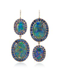 Andrea Fohrman | Unique Oval Australian Opal and Blue Sapphire Earrings | Lyst
