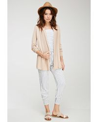 Forever 21 - Natural Contemporary Classic Knit Cardigan You've Been Added To The Waitlist - Lyst