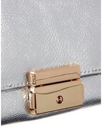 ASOS | Metallic Envelope Purse with Chunky Fitting | Lyst
