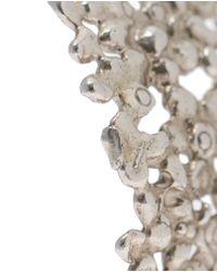 Natasha Collis - Metallic Large Dripped Sterling Silver Cuff - Lyst