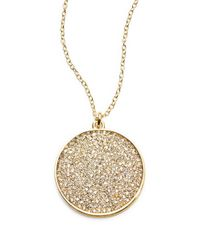 Karen Kane | Metallic Pave Pendant Necklace | Lyst