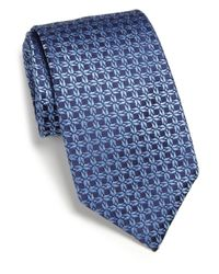 Charvet - Blue Abstract Print Silk Tie for Men - Lyst