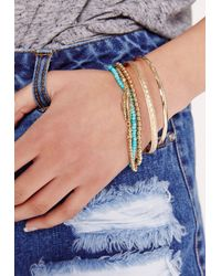 Missguided - Metallic Tattoos And Bracelets  - Lyst
