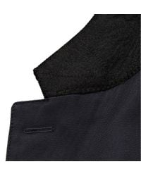 Burberry - Blue Cotton Blend Field Jacket with Detachable Lining for Men - Lyst
