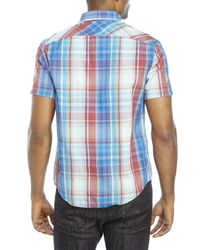 Original Penguin - Blue Classic Fit Plaid Button-Down Shirt for Men - Lyst