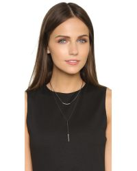 Chan Luu | Blue Double Layered Lariat Necklace - Midnight | Lyst
