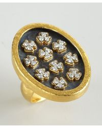 Gurhan - Metallic Gold and Silver Imperial Clover Diamond Ring - Lyst