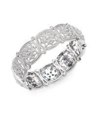 Adriana Orsini | Metallic Floral Square Bracelet | Lyst